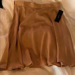 High waisted silk skirt